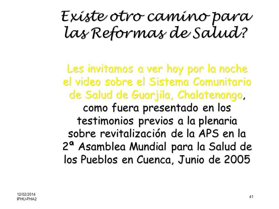 41 Les invitamos a ver hoy por la noche el video sobre el Sistema Comunitario de Salud de Guarjila, Chalatenango, como fuera presentado en los testimo