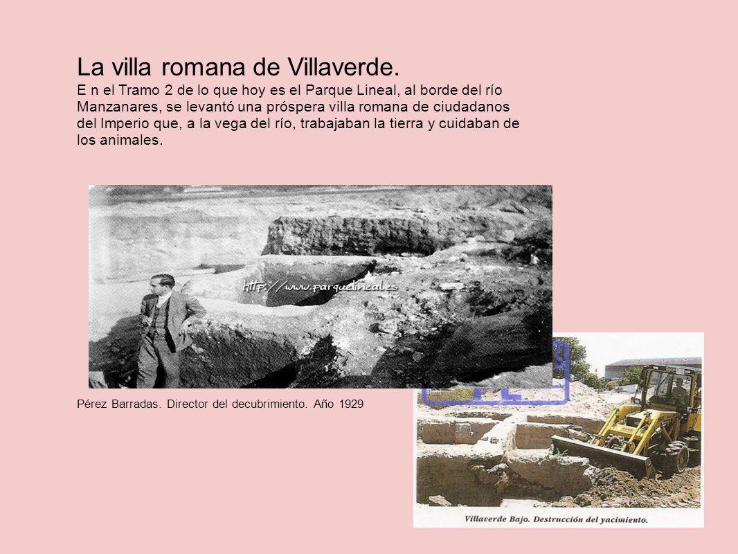 La villa romana de Villaverde. E n el Tramo 2 de lo que hoy es el Parque Lineal, al borde del río Manzanares, se levantó una próspera villa romana de