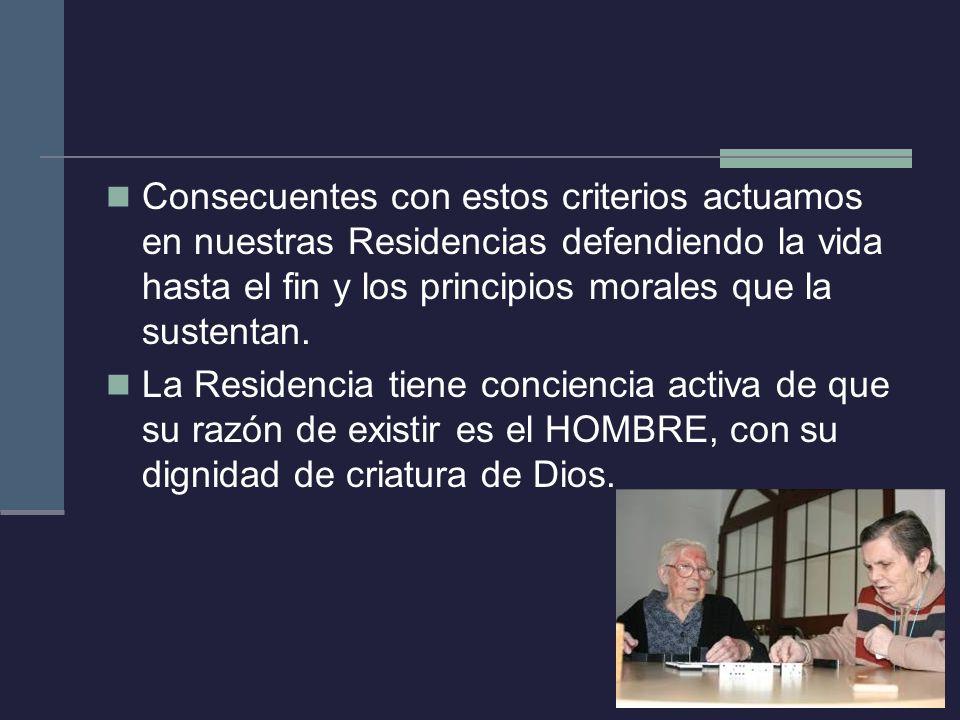 Nuestra propuesta de Centro CENTRO SOCIAL: En una actitud de profundo respeto a la persona mayor.