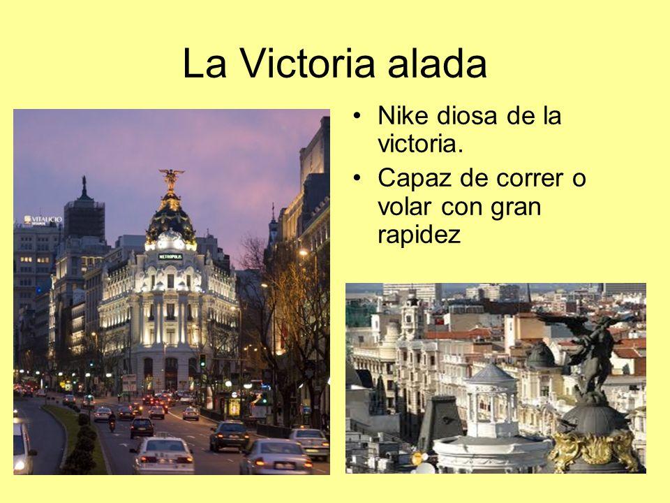 La Victoria alada Nike diosa de la victoria. Capaz de correr o volar con gran rapidez
