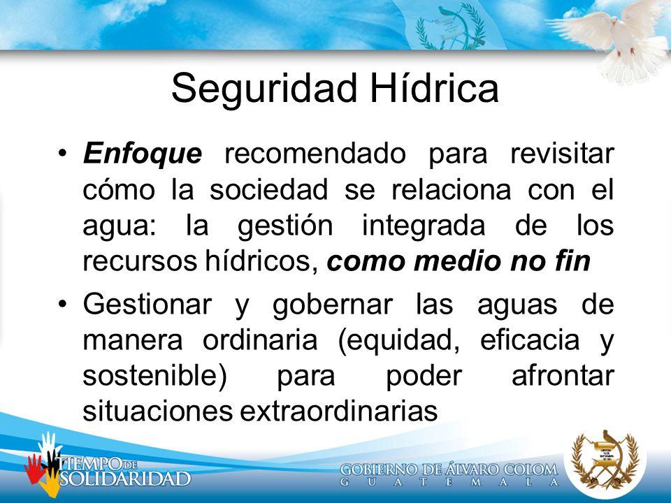Seguridad Hídrica Enfoque recomendado para revisitar cómo la sociedad se relaciona con el agua: la gestión integrada de los recursos hídricos, como me