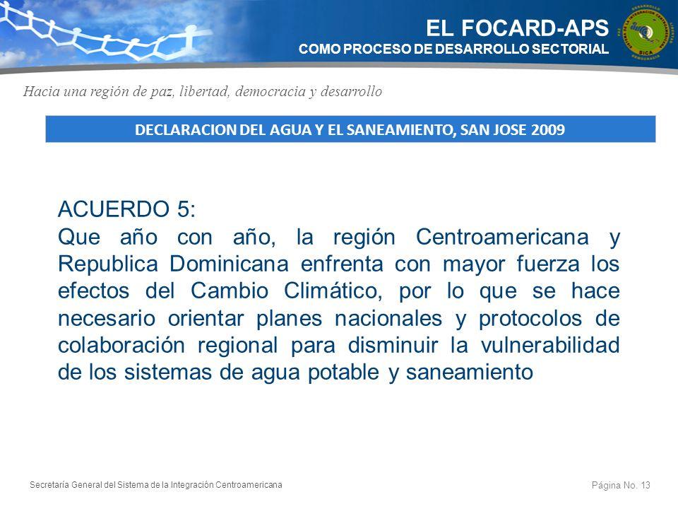 Secretaría General del Sistema de la Integración Centroamericana Resolución 64/292 de Naciones Unidas Página No.