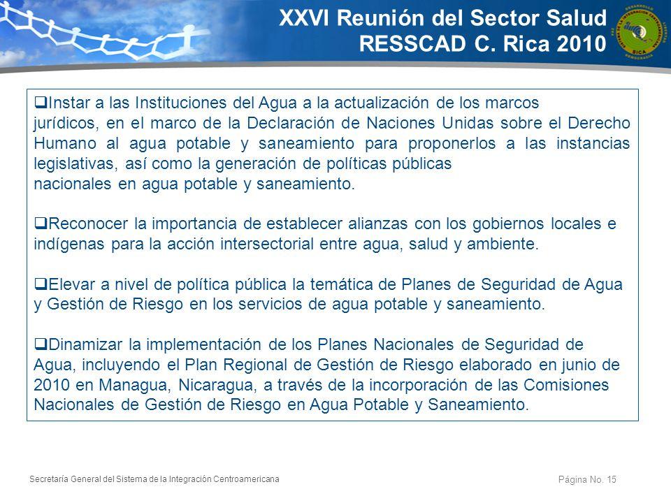 Secretaría General del Sistema de la Integración Centroamericana Abordaje Estrategico Página No. 16