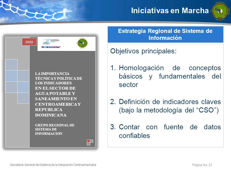 Secretaría General del Sistema de la Integración Centroamericana Página No.