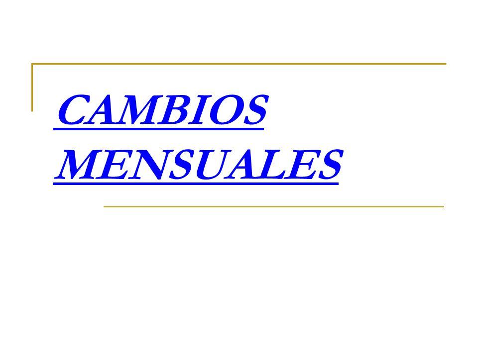 CAMBIOS MENSUALES