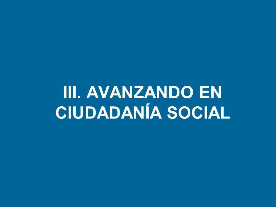 III. AVANZANDO EN CIUDADANÍA SOCIAL