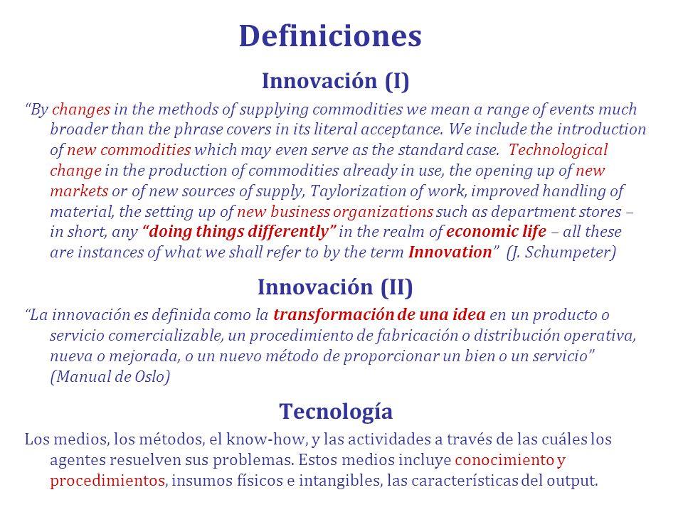 Dada la complejidad de la innovación y el cambio técnico: Para facilitar su generación y desarrollo no es suficiente diseñar mecanismos de incentivo financiero a la innovación; es necesario apoyar la colaboración y facilitar la circulación y aplicación del conocimiento en los sistemas productivos.