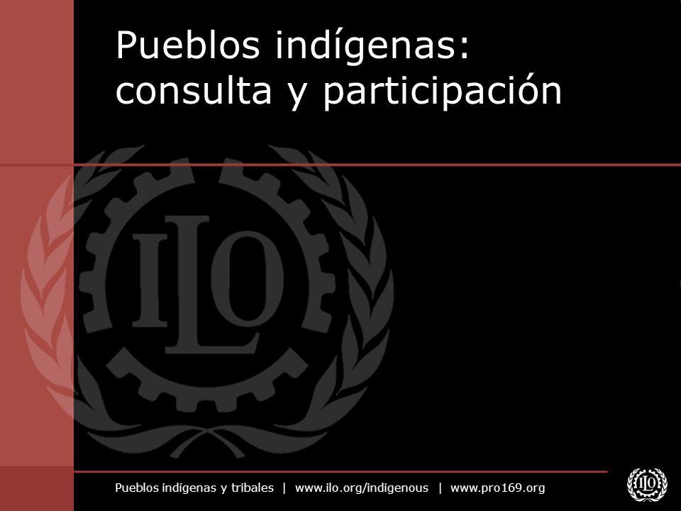 Pueblos indígenas y tribales | www.ilo.org/indigenous | www.pro169.org Pueblos indígenas: consulta y participación