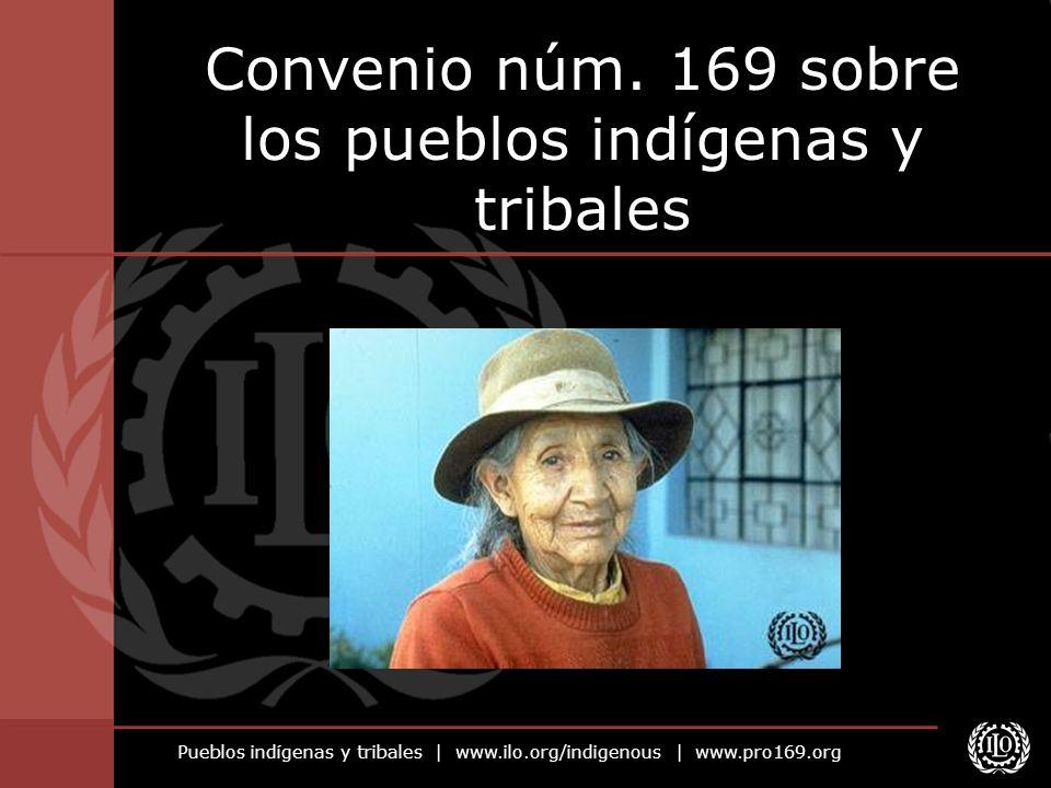 Pueblos indígenas y tribales   www.ilo.org/indigenous   www.pro169.org Convenio núm. 169 sobre los pueblos indígenas y tribales