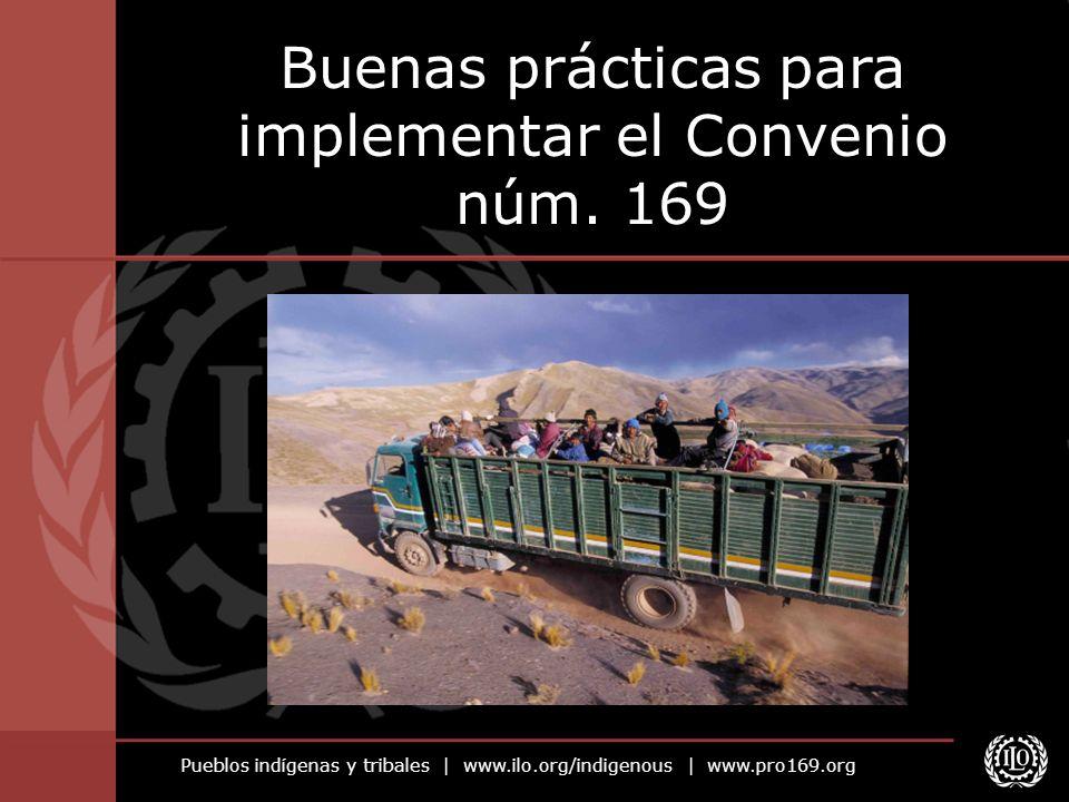 Pueblos indígenas y tribales | www.ilo.org/indigenous | www.pro169.org Buenas prácticas para implementar el Convenio núm. 169