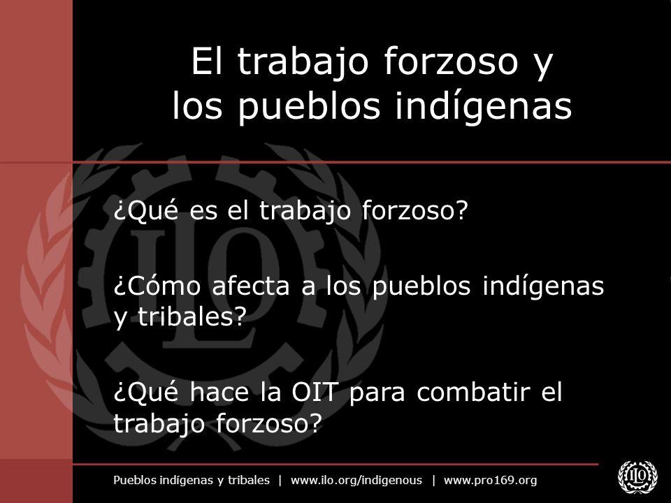 Pueblos indígenas y tribales | www.ilo.org/indigenous | www.pro169.org ¿Qué es el trabajo forzoso.