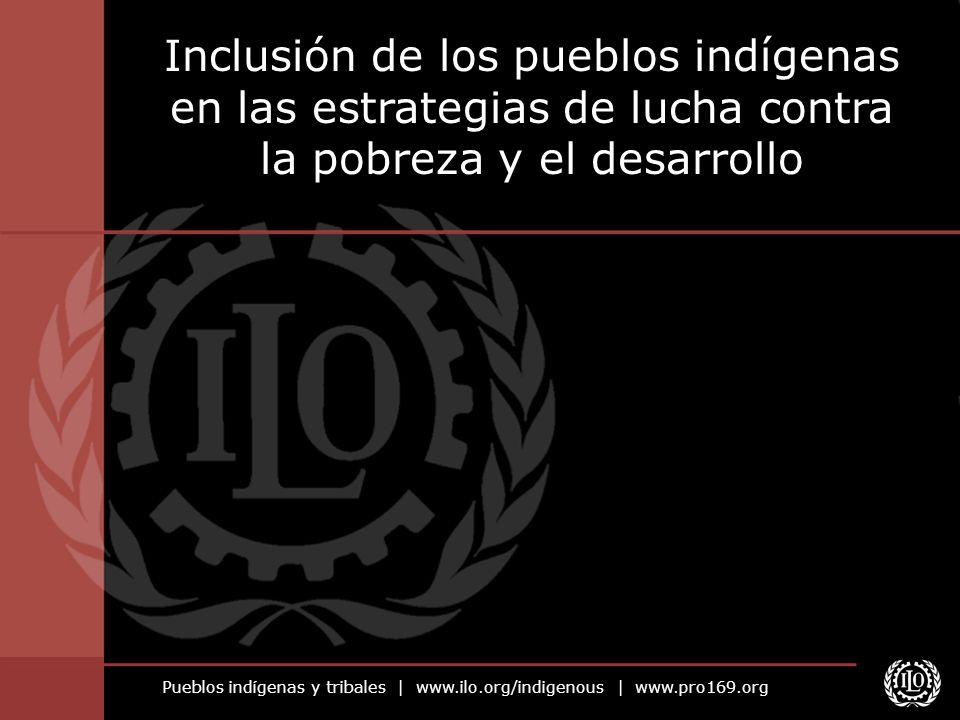 Pueblos indígenas y tribales   www.ilo.org/indigenous   www.pro169.org Legislación o política nacional Fundamental Si no existe, se debe elaborar dentro del contexto de la estrategia de lucha contra la pobreza Ratificación del Convenio núm.