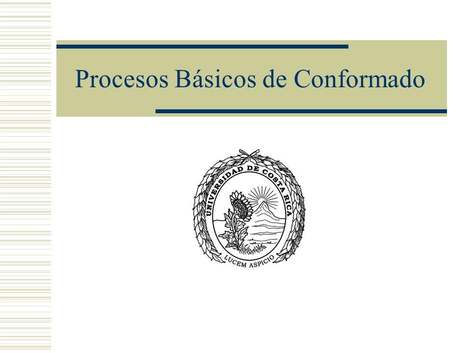 Procesos Básicos de Conformado