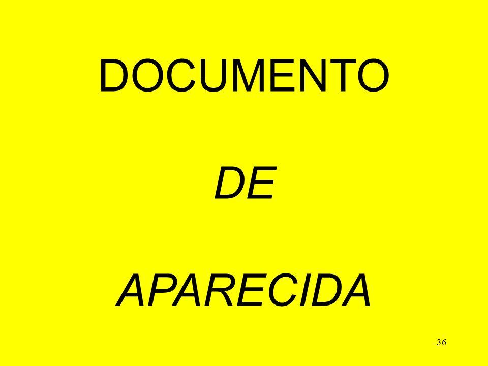 36 DOCUMENTO DE APARECIDA