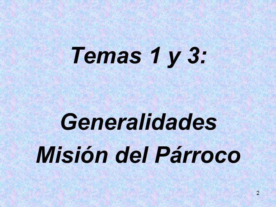 23 Lo decía el Concilio en Christus Dominus: Los vicarios prestan, como colaboradores del Párroco, un servicio excelente y activo en el ministerio parroquial bajo la autoridad del mismo párroco.