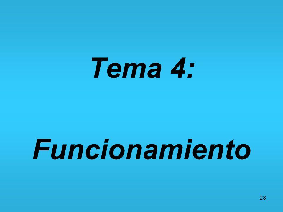 28 Tema 4: Funcionamiento