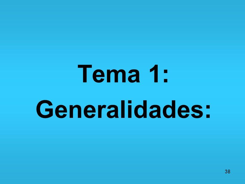38 Tema 1: Generalidades: