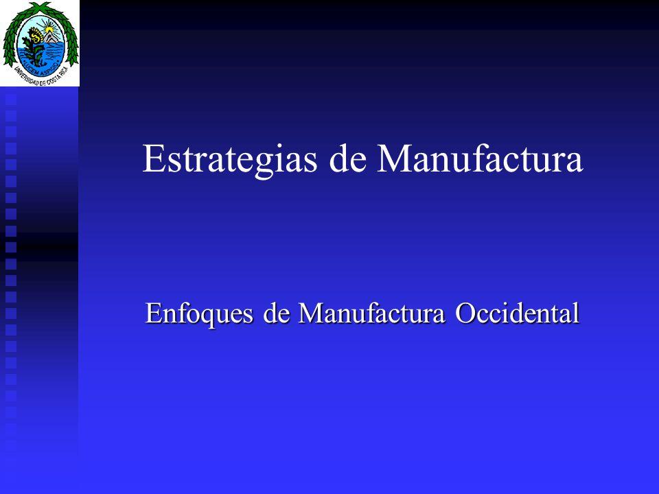 Estrategias de Manufactura Enfoques de Manufactura Occidental