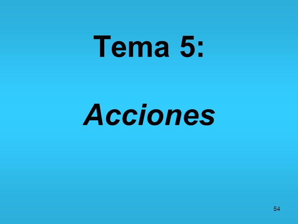 54 Tema 5: Acciones