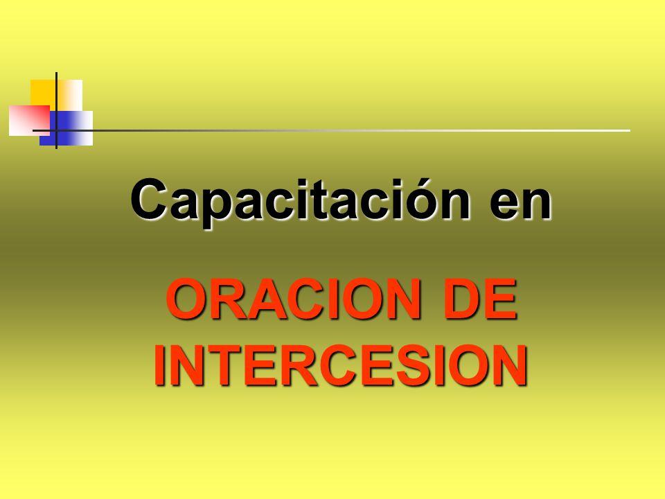 Capacitación en ORACION DE INTERCESION