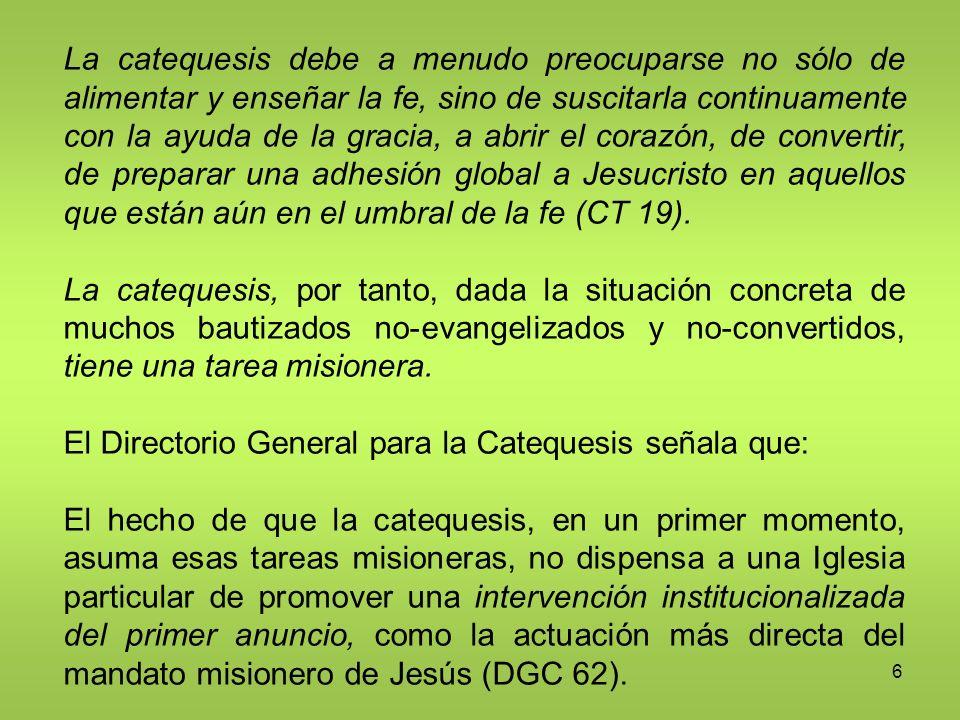 17 El catecumenado es un tiempo de formación en la fe y en la vida conforme al Evangelio.