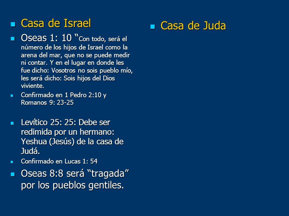 Casa de Israel Casa de Israel Oseas 1: 10 Con todo, será el número de los hijos de Israel como la arena del mar, que no se puede medir ni contar. Y en