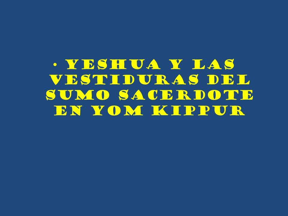 YESHUA Y LAS VESTIDURAS DEL SUMO SACERDOTE EN YOM KIPPUR