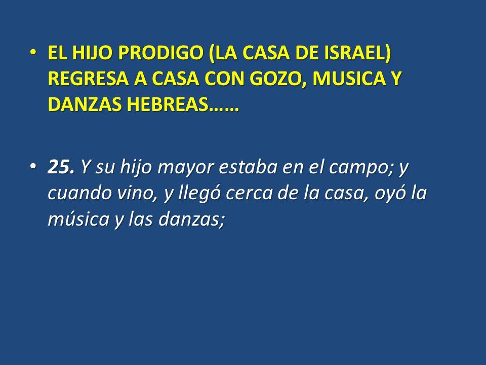 EL HIJO PRODIGO (LA CASA DE ISRAEL) REGRESA A CASA CON GOZO, MUSICA Y DANZAS HEBREAS…… EL HIJO PRODIGO (LA CASA DE ISRAEL) REGRESA A CASA CON GOZO, MU