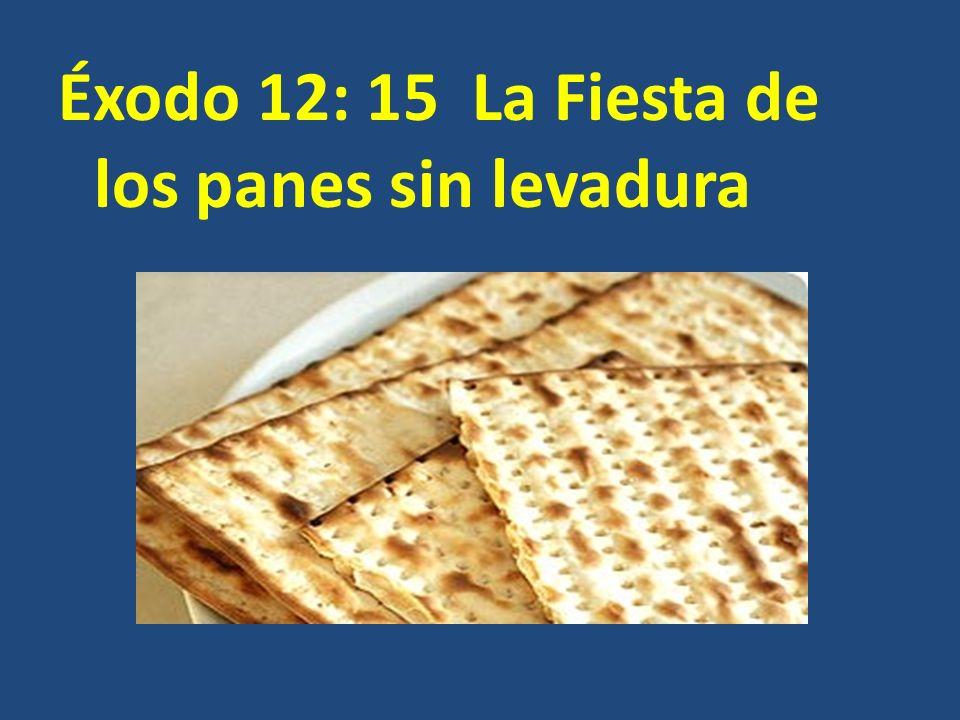 Éxodo 12: 15 La Fiesta de los panes sin levadura
