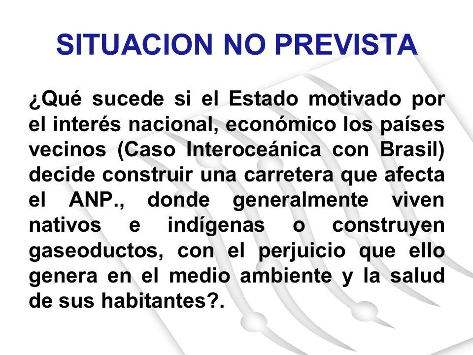 ¿Qué sucede si el Estado motivado por el interés nacional, económico los países vecinos (Caso Interoceánica con Brasil) decide construir una carretera