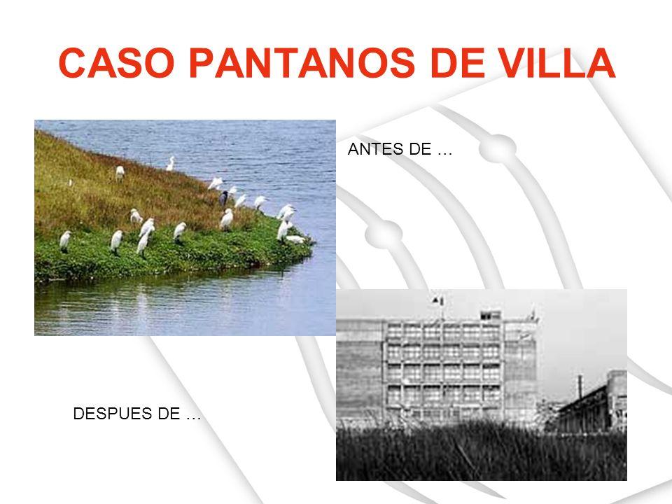 CASO PANTANOS DE VILLA ANTES DE … DESPUES DE …