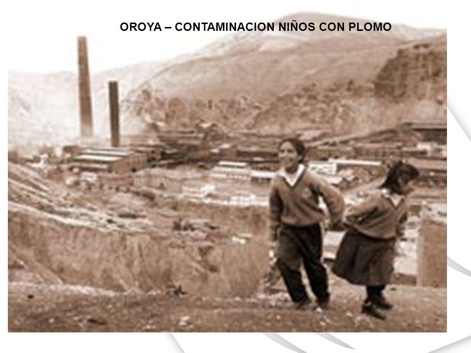 OROYA – CONTAMINACION NIÑOS CON PLOMO