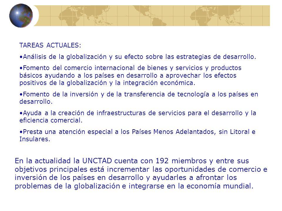TAREAS ACTUALES: Análisis de la globalización y su efecto sobre las estrategias de desarrollo. Fomento del comercio internacional de bienes y servicio