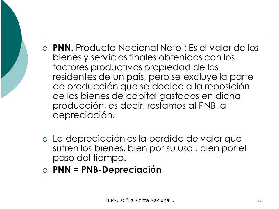 TEMA 9: La Renta Nacional .36 PNN.
