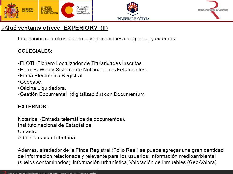 Integración con otros sistemas y aplicaciones colegiales, y externos: COLEGIALES: FLOTI: Fichero Localizador de Titularidades Inscritas.