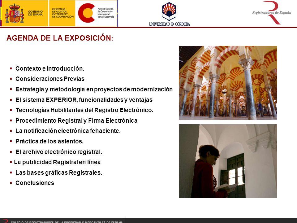 AGENDA DE LA EXPOSICIÓN : Contexto e Introducción.