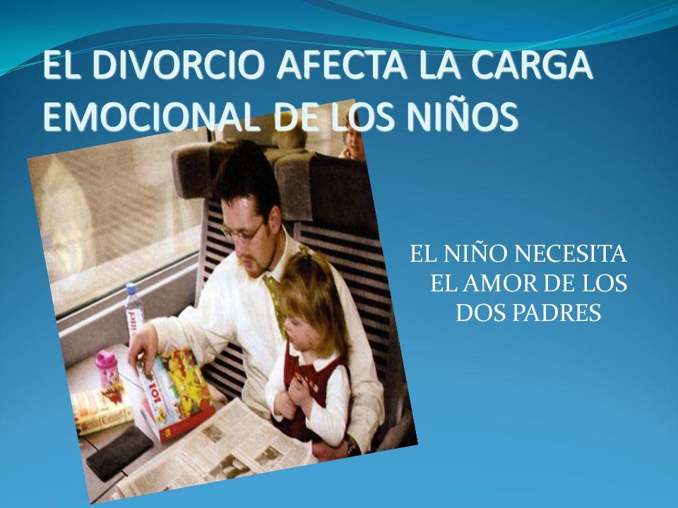 DIVORCIO DE LOS PADRES Más de un millón de niños están involucrados en divorcios cada año.