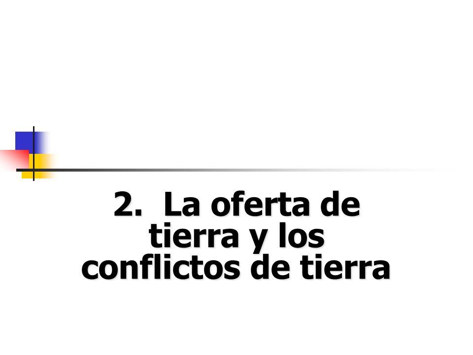 2. La oferta de tierra y los conflictos de tierra