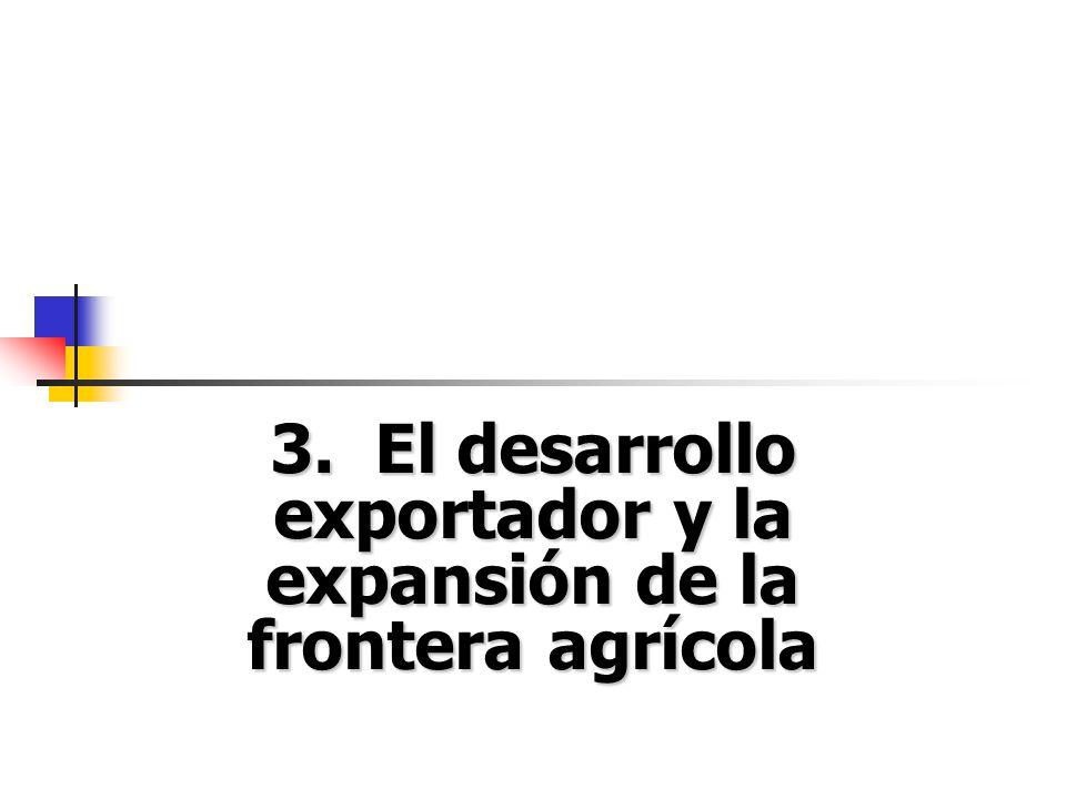 3. El desarrollo exportador y la expansión de la frontera agrícola