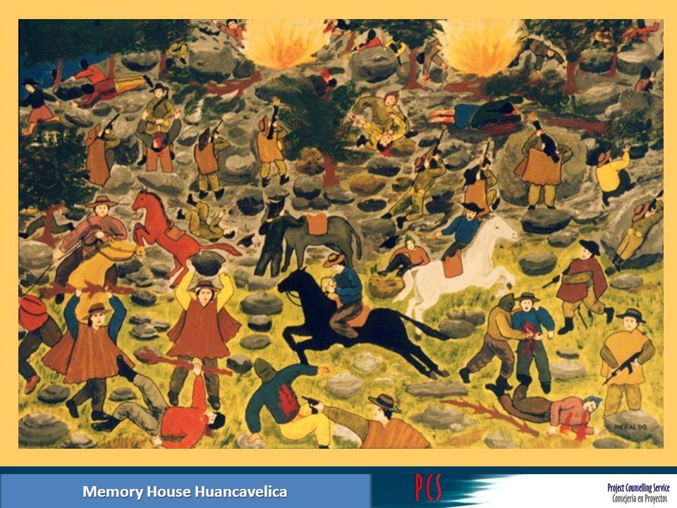 Memory House Huancavelica Summary photographic exhibition hall 1: Internal armed conflict actors Base Militar del distrito de Manta, Huancavelica.