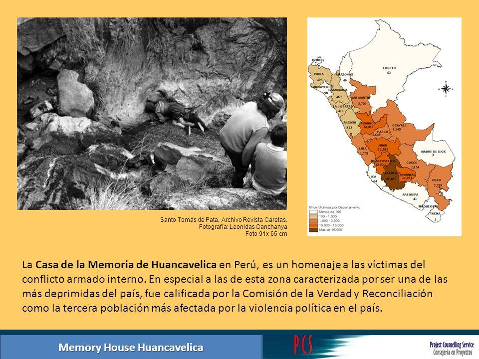 La Casa de la Memoria de Huancavelica en Perú, es un homenaje a las víctimas del conflicto armado interno. En especial a las de esta zona caracterizad