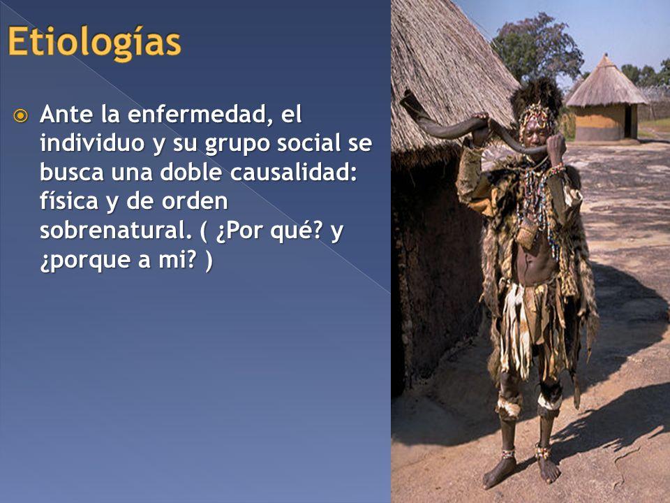 Ante la enfermedad, el individuo y su grupo social se busca una doble causalidad: física y de orden sobrenatural. ( ¿Por qué? y ¿porque a mi? ) Ante l