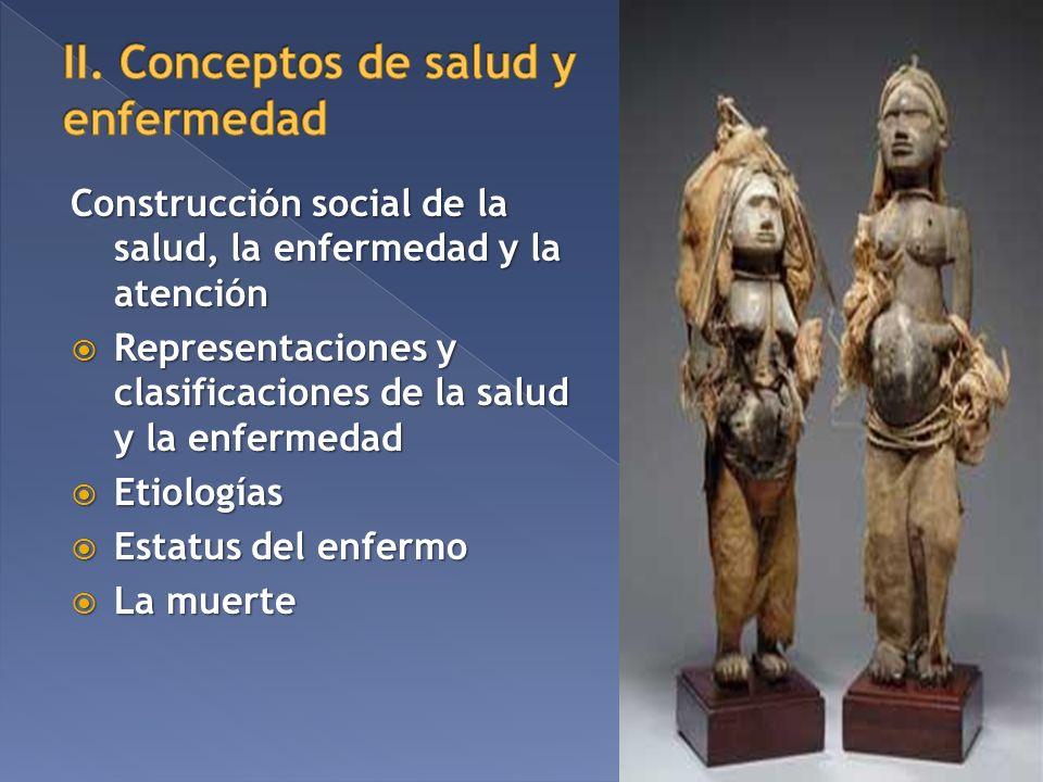 Construcción social de la salud, la enfermedad y la atención Representaciones y clasificaciones de la salud y la enfermedad Representaciones y clasifi