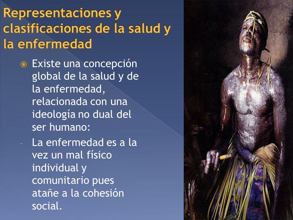 Existe una concepción global de la salud y de la enfermedad, relacionada con una ideología no dual del ser humano: - La enfermedad es a la vez un mal