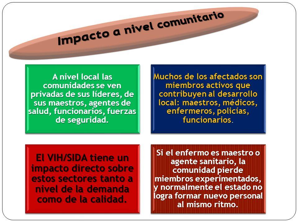 A nivel local las comunidades se ven privadas de sus líderes, de sus maestros, agentes de salud, funcionarios, fuerzas de seguridad.