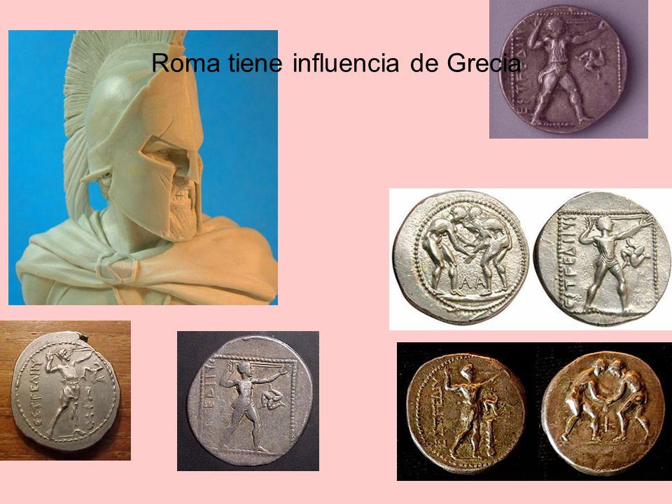 Roma tiene influencia de Grecia