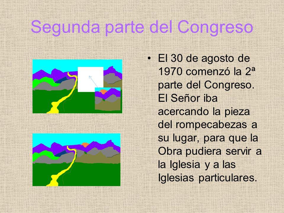 Piden completar documentos El 28 de junio de 1979, la plenaria dijo que tenían que completarse unas cuantas cosas: estatutos vigentes, planes para la formación de los miembros, saber la voluntad del Fundador sobre la configuración jurídica, etc.