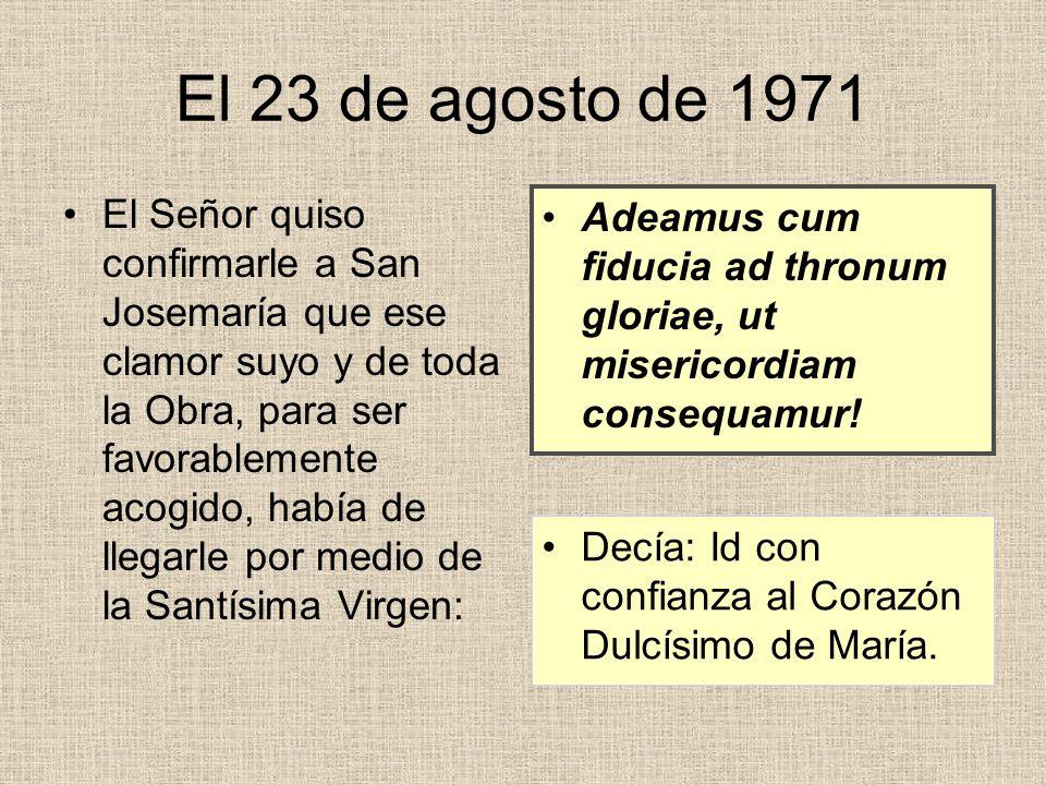 A raíz de la consagración de la Iglesia prelaticia, el prelado escribió Don Álvaro escribió en los nn.