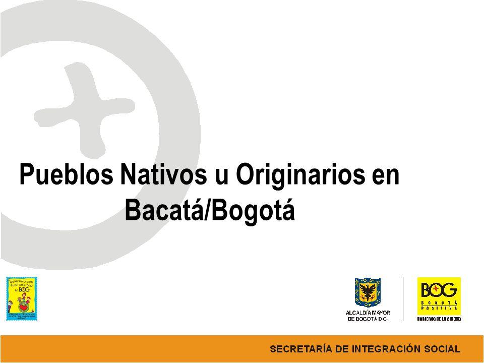 Pueblos Nativos u Originarios en Bacatá/Bogotá