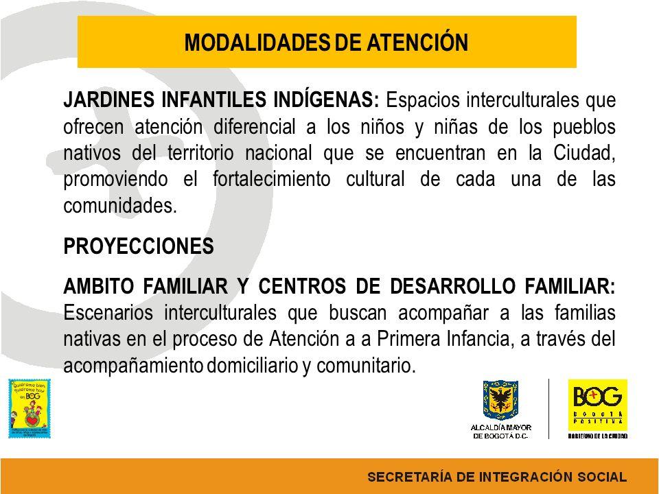 MODALIDADES DE ATENCIÓN JARDINES INFANTILES INDÍGENAS: Espacios interculturales que ofrecen atención diferencial a los niños y niñas de los pueblos na